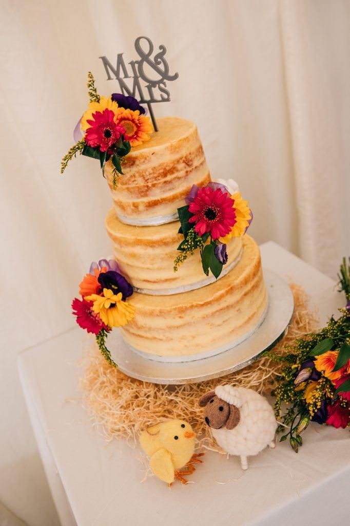 Easter themed wedding cake