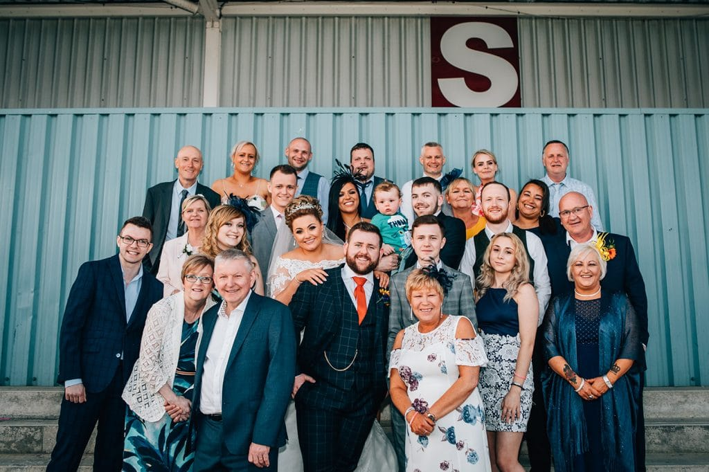 A family photo at South Shields Football Club