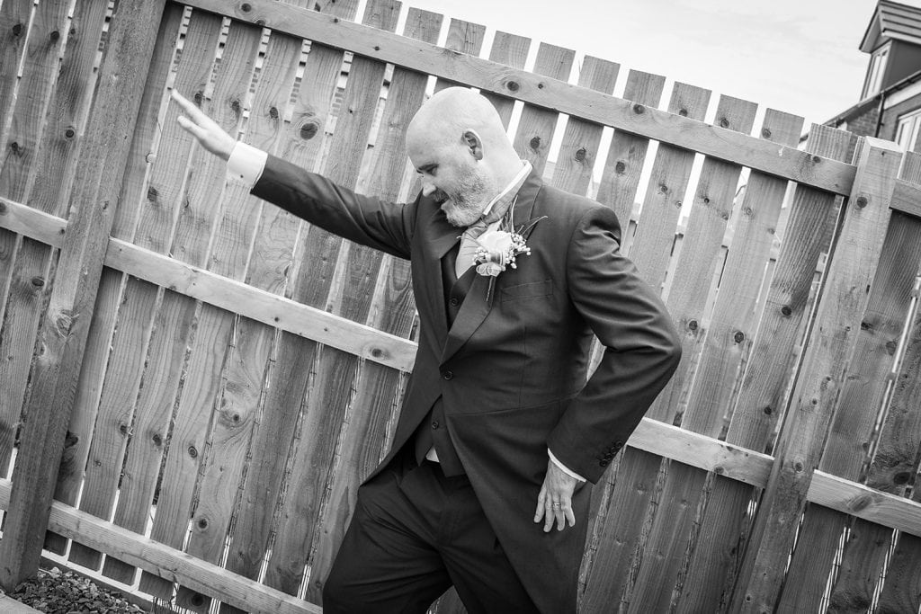 Brides brother dabbing