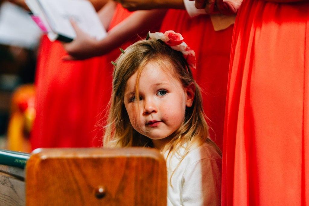Flowergirl in St Aidan's RC Church in Ashington