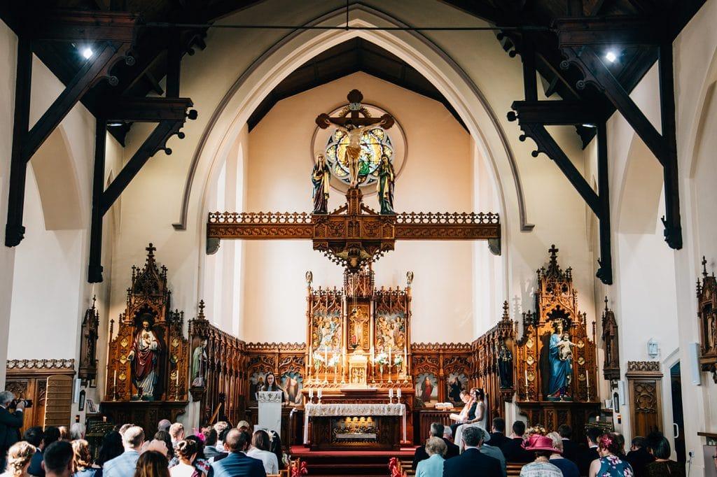 Inside St Aidan's RC Church in Ashington