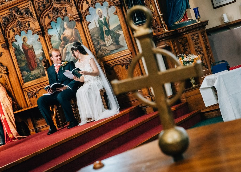 Alex & Mary singing in St Aidan's RC Church in Ashington