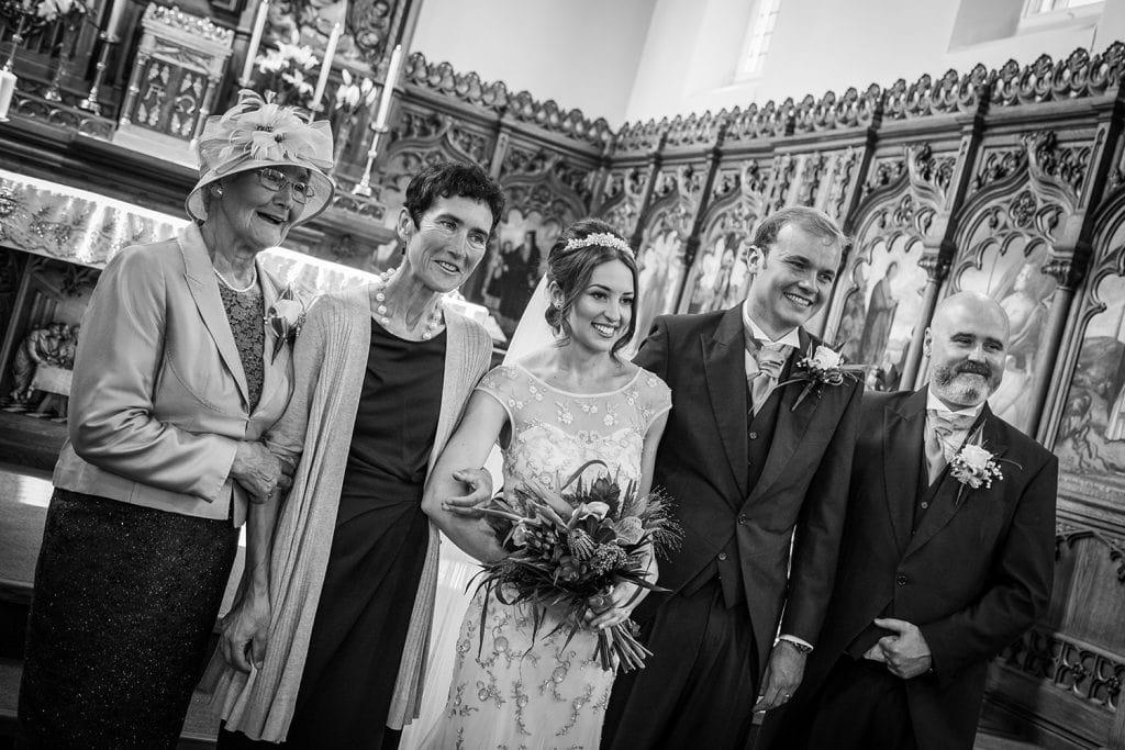 A Family photo at St Aidan's RC Church in Ashington
