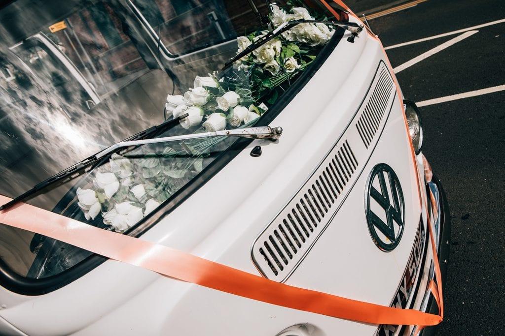White wedding VW Campervan