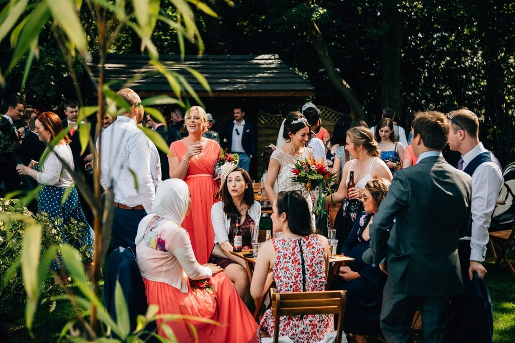 Guests enjoying the sunshine at Beamish Park Hotel
