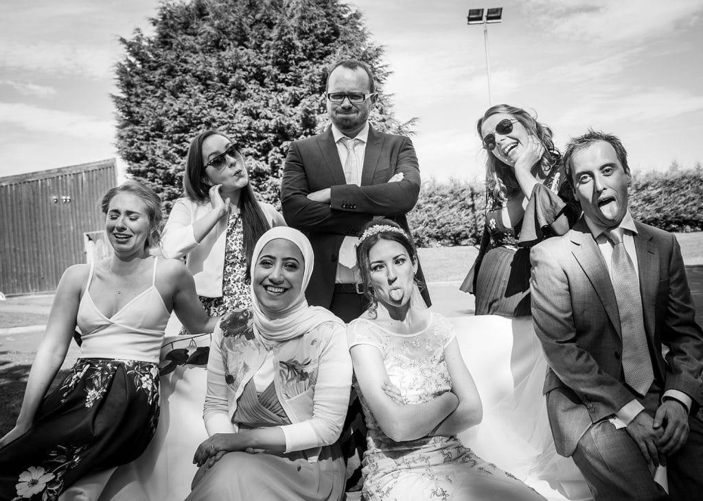 Brides friends having fun at Beamish Park Hotel