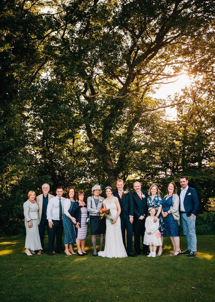 Family photo at Beamish Park Hotel