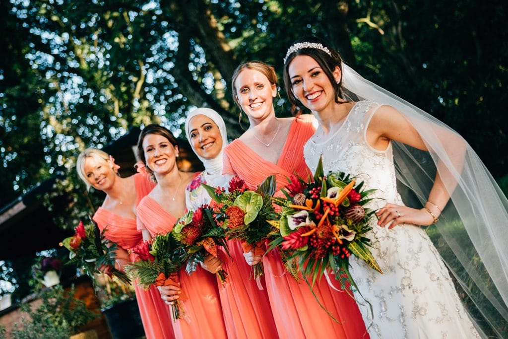 Bride with her Bridesmaids at Beamish Park Hotel