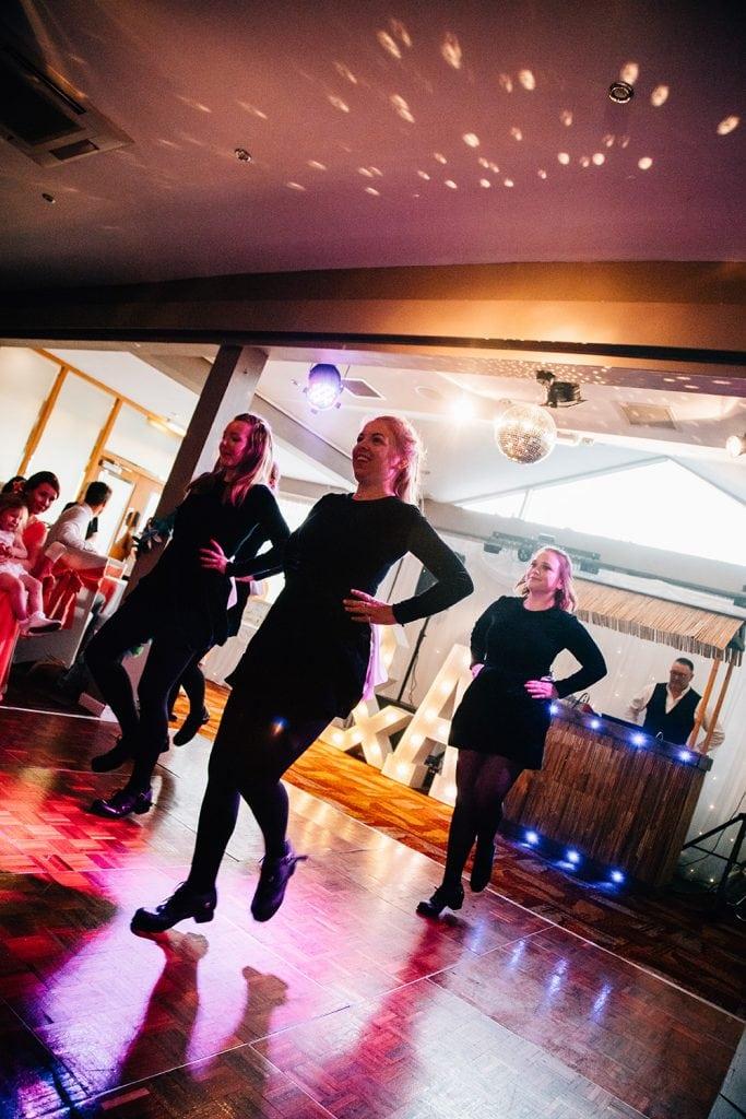 Irish Dancers on the dance floor of Beamish Park Hotel
