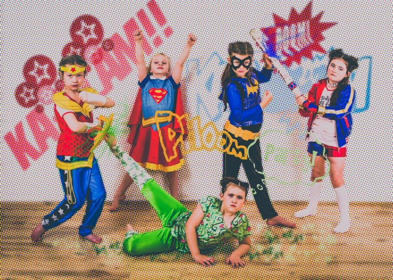 Hero themed girls pamper party