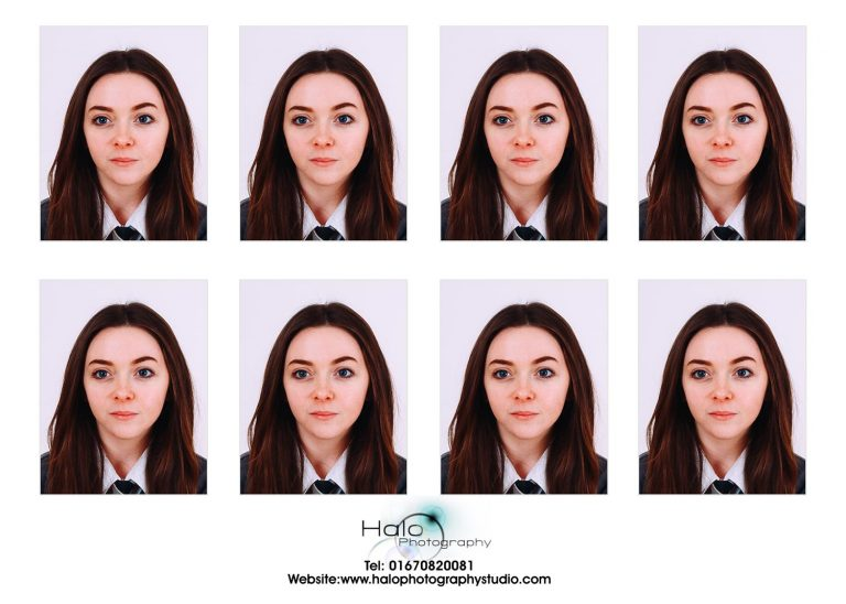 Passport Photo Prints Example at Halo Photography