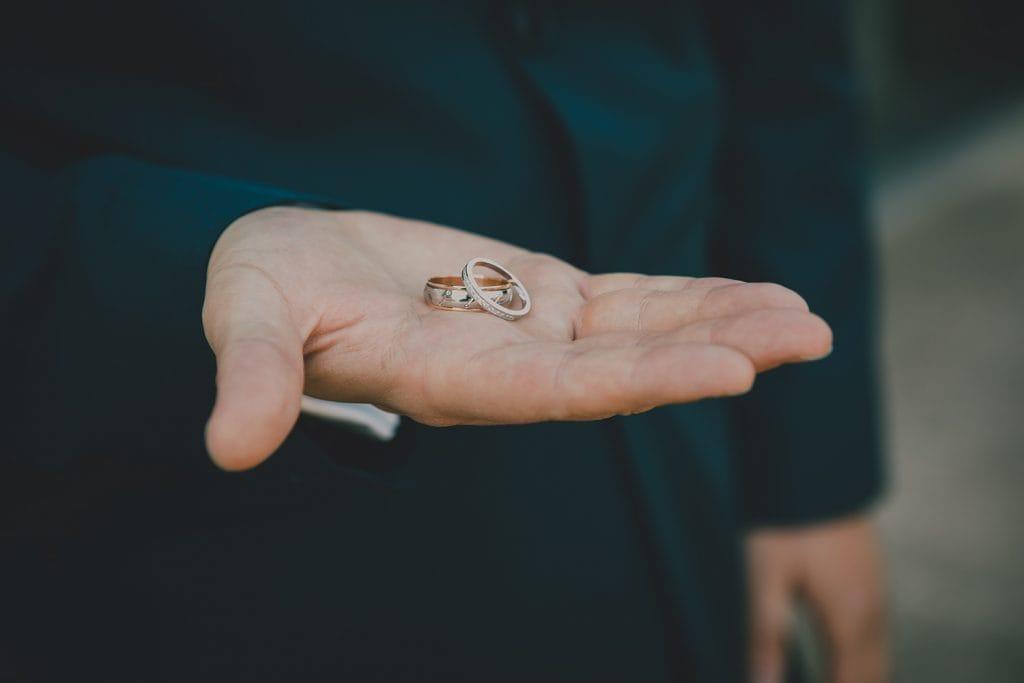 Wedding Rings in Grooms hand