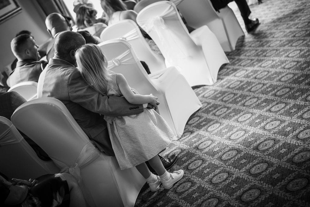 guests watching wedding service