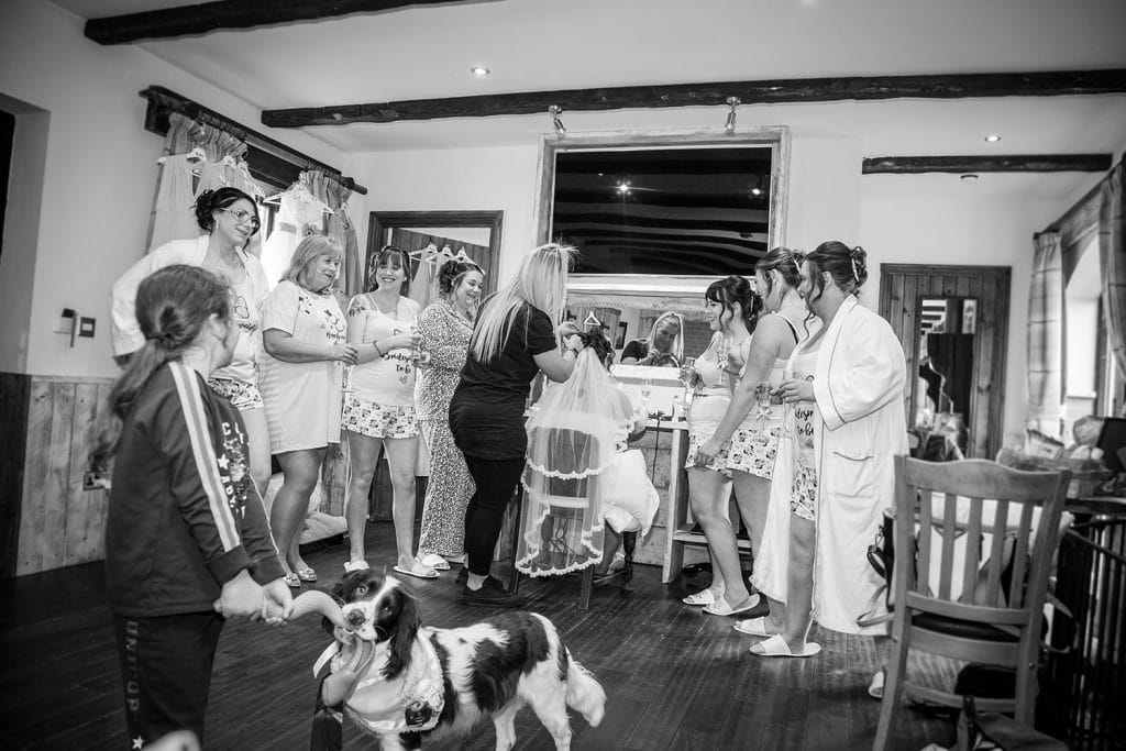 The Old Barn at South Causey Inn Wedding Photographer 10