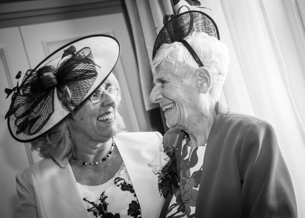 Brides mum & Grandmother laughing