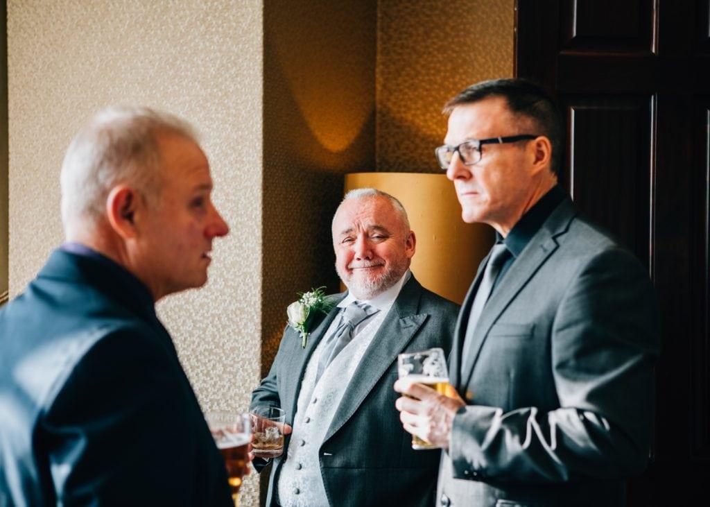 Big grin from brides dad