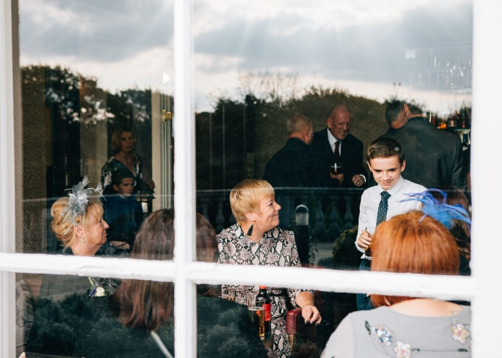 Guests waiting in Seaham Halls Bar