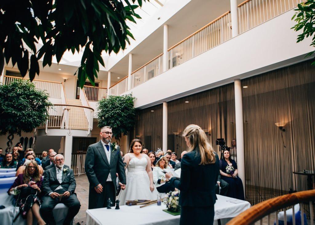 Wedding service at Seaham Hall