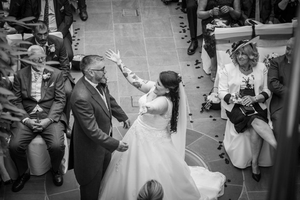Big huggs from the bride