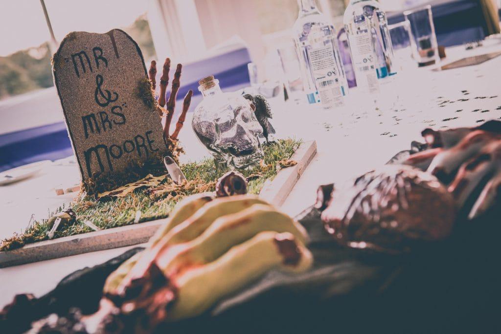 Halloween Wedding table centres