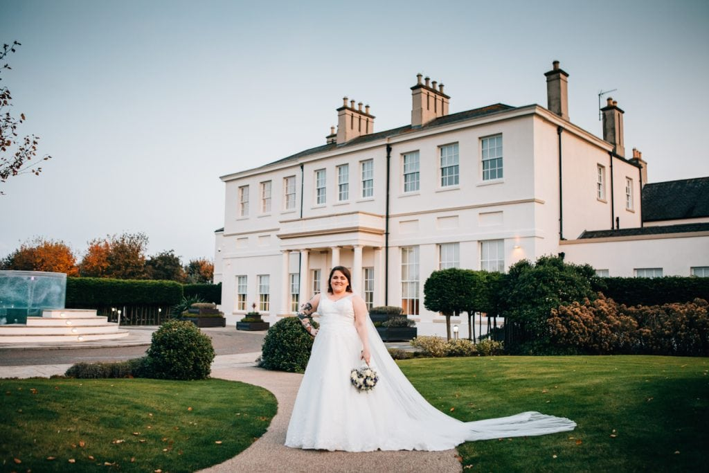 Emma in front of Seaham Hall