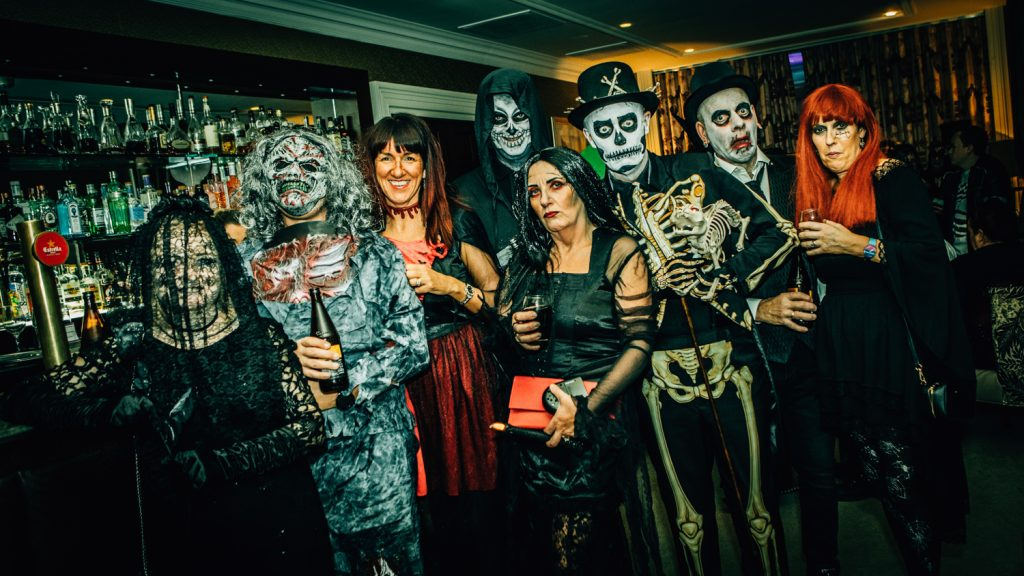 Spooky Wedding Guests at Seaham Hall