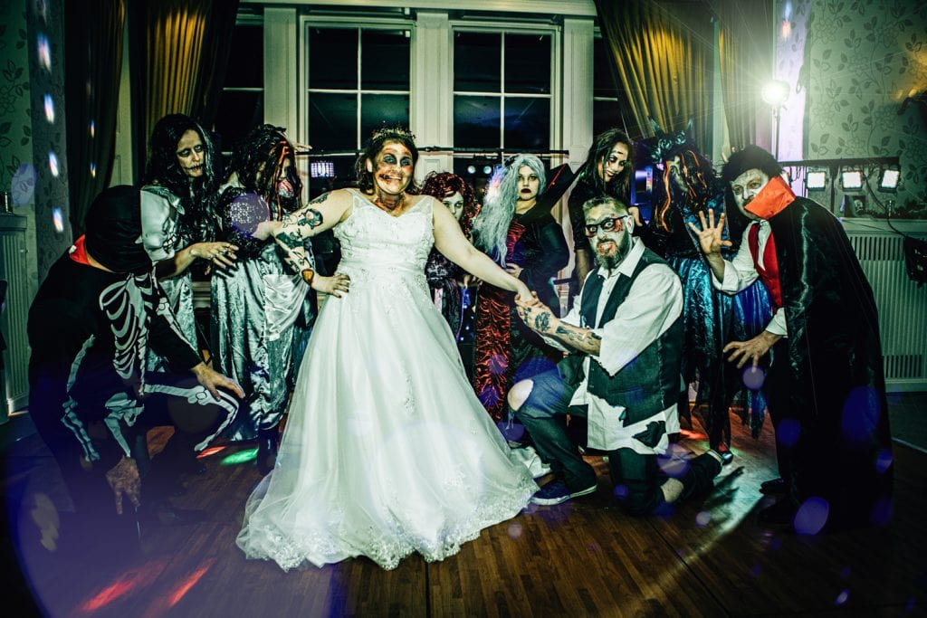 Zomies Attack the bride at Seaham Hall