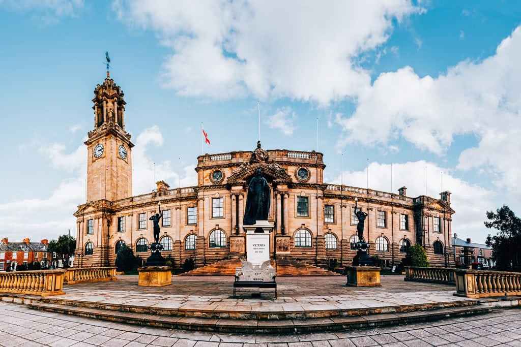 Panoramic of South Shields Town Hall