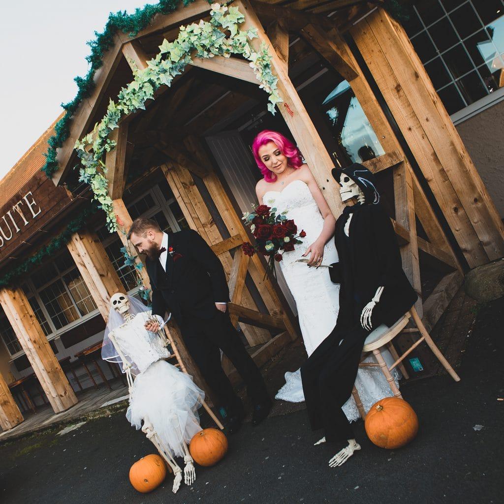 Bride & Groom meet Skeleton Bride & Groom