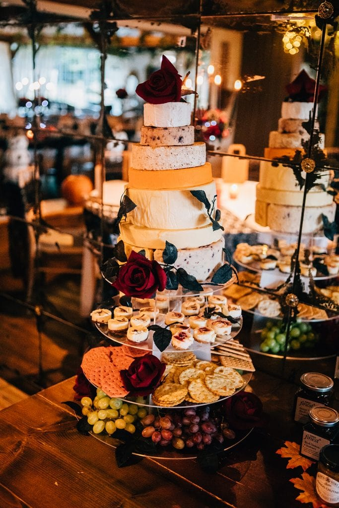 Cheese & Biscuits Wedding Cake at the Greyhound Inn