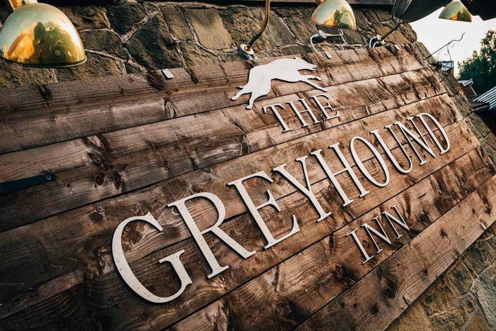 The Greyhound Inn sign