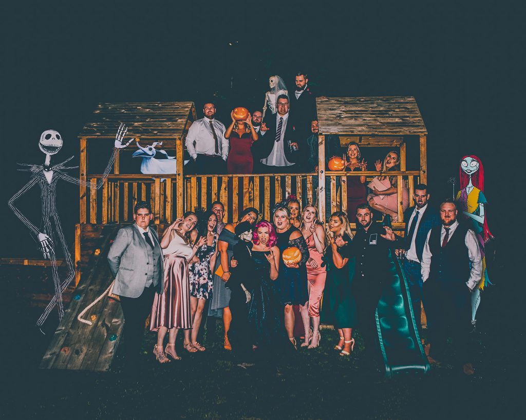 Halloween Group Photo at The Greyhound Inn Garden