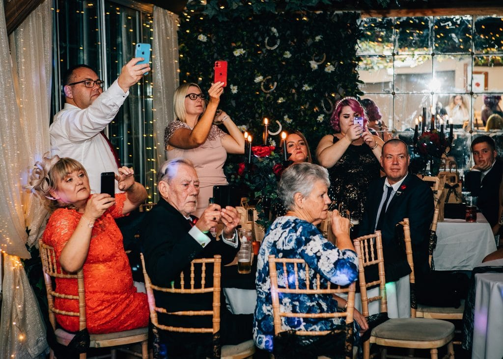 Guests watch the first dance at The Greyhound Inn