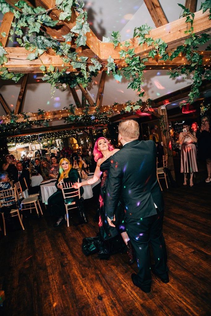 Bride & Groom dancing at The Greyhound Inn