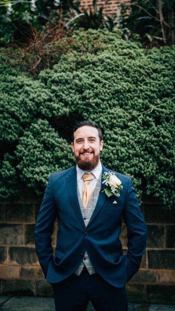 The Groom at Quayside Exchange Sunderland Wedding Photography