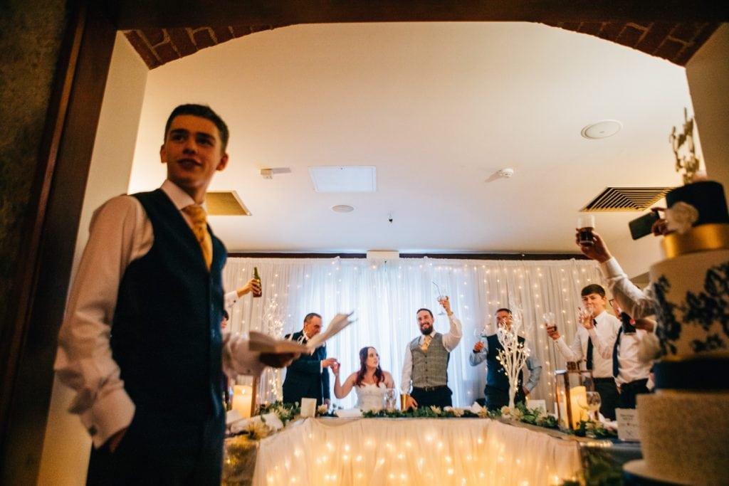Bestman speech at Quayside Exchange Sunderland Wedding Photography