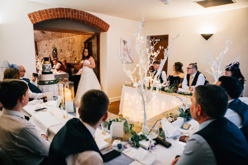 Brides speech at Quayside Exchange Sunderland Wedding Photography