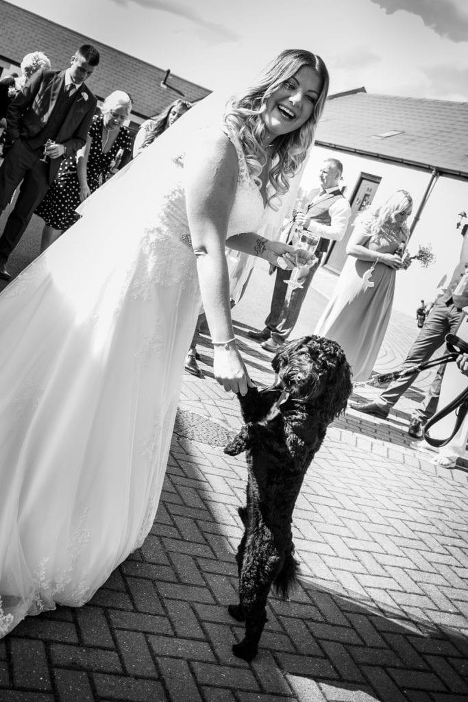 Bride and her doggo