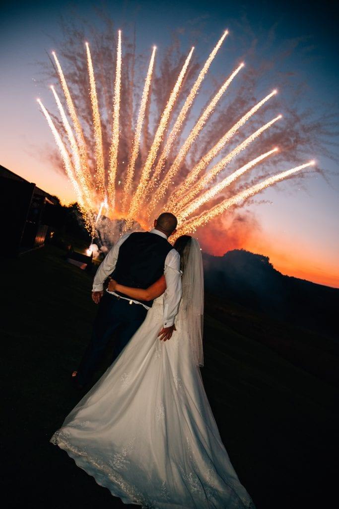 Bride & Groom watching fireworks Wedding Photographer