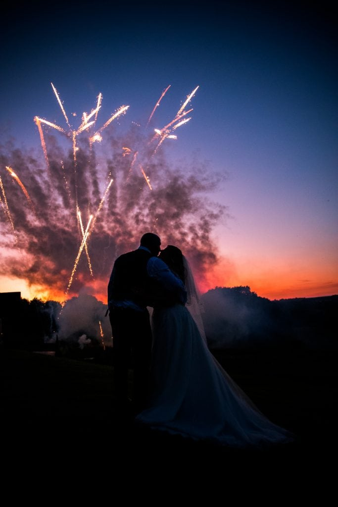 Fireworks at The South Causey Inn Wedding Photographer
