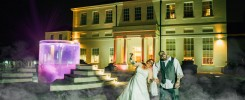 Zombie Bride & Groom on Halloween night at Seaham Hall