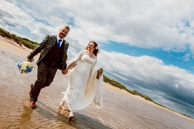 Newton Hall Beach Wedding